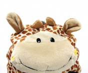 Animal Hat Kids - Children's Size with Ear Covers and Fleece Lining Giraffe