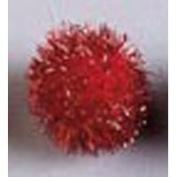Darice Pom Poms - Red Tinsel