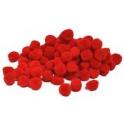 40 Red Craft Pom Poms (2.5cm )