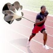 Running Chute, AGPtEK 100cm Black Professional Speed Training Resistance Parachute 6.8kg of Resistance, Fit up to a 110cm waist