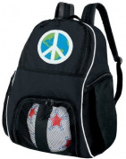 World Peace Sign Ball Backpack Peace Signs Soccer Ball Bag Basketball Backpacks