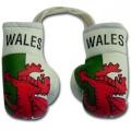 Wales Flag Mini Boxing Gloves