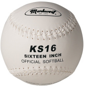 Markwort 40.6cm Synthetic Cover Softball, White