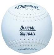 Diamond 27.9cm Synthetic Cover Softball, Cork Core, Dozen