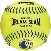 Worth C11BYSUC USSSA Stamped Fastpitch 27.9cm Protac Optic Yellow Ball