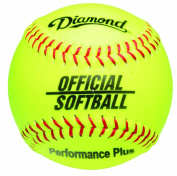 Diamond 30.5cm Synthetic Optic Cover Softball, Cork Core, Dozen