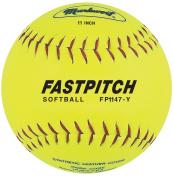 Markwort Fastpitch 27.9cm Softball Yellow Genuine Leather (Dozen) Yellow
