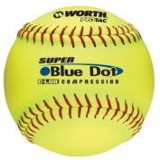 Worth Protac Super Blue Dot Official ASA Slowpitch Softball-30cm - 1 Dozen