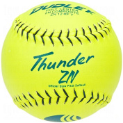 Dudley USSSA Thunder ZN Slow Pitch Softball - .40 COR - Classic M Stamp - 12 pack