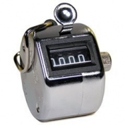 GBC 9841000 - Tally I Hand Model Tally Counter, Registers 0-9999, Chrome