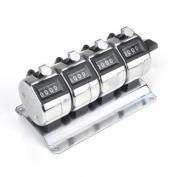 GOGO 4-Unit Desktop Tally Counter, 4 Key Mechanical Tally Metre, Multiple-unit Tally Counter