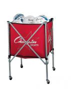 Champion Sports Folding Volleyball Storage Cart