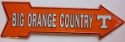 America sports Big Orange Country Tennessee Arrow Sign Parking Signs Street Signs Novelty Signs Metal Signs