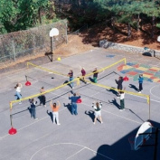 Sportime FourCourt Volley System - Set of 4 Nets - Base and Post Not Included
