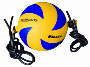 Mikasa Attack Trainer Volleyball with Tether - Size 5 Official - Blue and Yellow
