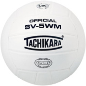 Tachikara SV5WM Full Grain Leather VolleyBall - White