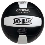 Tachikara SV18S.BKW Composite Leather Volleyball - Black-White