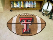 Custom Made - 3564 - Texas Tech Football Rug 55.9cm x88.9cm