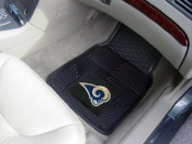 St Louis Rams Heavy Duty 2-Piece Vinyl Car Mats 45.7cm x68.6cm