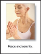 Peace & Serenity 45.7cm X 61cm Laminated Yoga Inspirational Poster