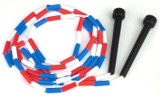 Red, White and Blue 2.1m Jump Rope with Plastic Segmentation by K-Roo Sports