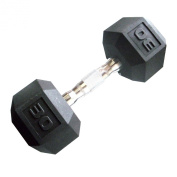Cap Barbell Workouts Coated Hex Dumbbell, Black, 14kg