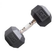 Cap Barbell Workouts Coated Hex Dumbbell, Black, 16kg