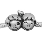 """""""Sister and Brother"""" Charm Bead"""