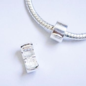 Sterling Silver Polished Pandora Style Clip Lock Stopper Charm Bead.