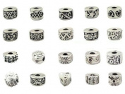 Ten (10) Pack Of Antique Silver Design Pandora Style Clip Lock Stopper Bead Charms