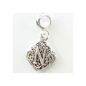 Davinci Beads Alphabet Letter Initial Charm Beads N
