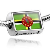 "Beads ""Dominica Flag"" - Pandora Charm & Bracelet Compatible"