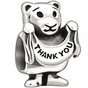 "Authentic Chamilia Sterling Silver Charm ""Thank You Beary Much"" 2010-3091"