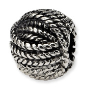 Genuine Reflection Beads (TM) Bead Charm. Sterling silver Reflections Ball of Yarn Bead. 100% Satisfaction Guaranteed.