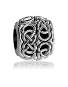 Repeating Double Infinity Symbol Bead in Sterling Silver