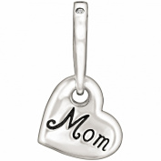 "Authentic Chamilia LIMITED EDITION Charm ""Hanging Mom Heart"" Pink. 2025-0967"