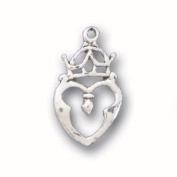 Sterling Silver Charm Pendant Celtic Crown Heart Luckenbooth