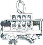 Sterling Silver Trolley Charm Jewellery San Francisco