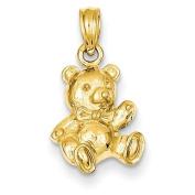 14k Teddy Bear Charm