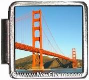 Golden Gate Bridge Italian Charm Bracelet Jewellery Link A10049