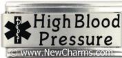 High Blood Pressure Medical Alert Italian Charm Bracelet Jewellery Link