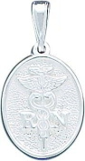 Sterling Silver RN Caduceus Charm Pendant Jewellery