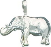 Sterling Silver Elephant Charm Pendant Africa Animal