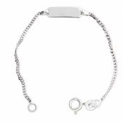 Sterling Silver 13.3cm Baby Engraveable ID Bracelet