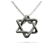 Sterling Silver Intertwined Jewish Star Necklace