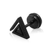 U2U New Pair of Stainless Steel Hollow Triangle Earrings