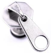 U2U a Pair of 316l Surgical Steel Sliver Zipper Earrings