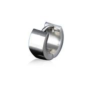 U2U New a Pair of Stainless Steel Sliver Scrub Huggie Hoop Earrings