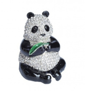 Lilly Rocket Collectible Box with Rhinestone Bejewelled. Crystals - Panda