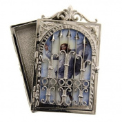 Heavenly Gates Silver Tone Rosary Box
